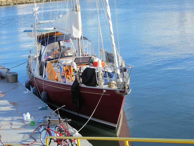 Cleaning and loading cruising (see fold up bikes) and offshore gear.