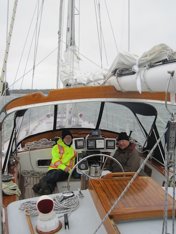 In Perry's Creek we, secure and organize the boat ahead of the tail of Hurricane Sandy.